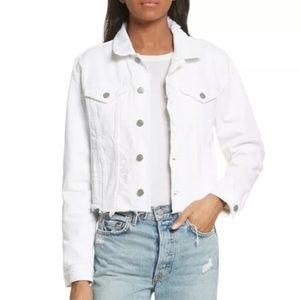 GRLFRND White Distressed Denim Jacket